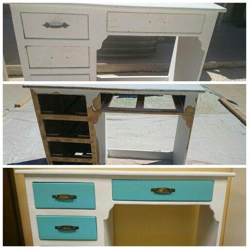 Make Over Via Vintage Furniture Paint Hampton White And Island