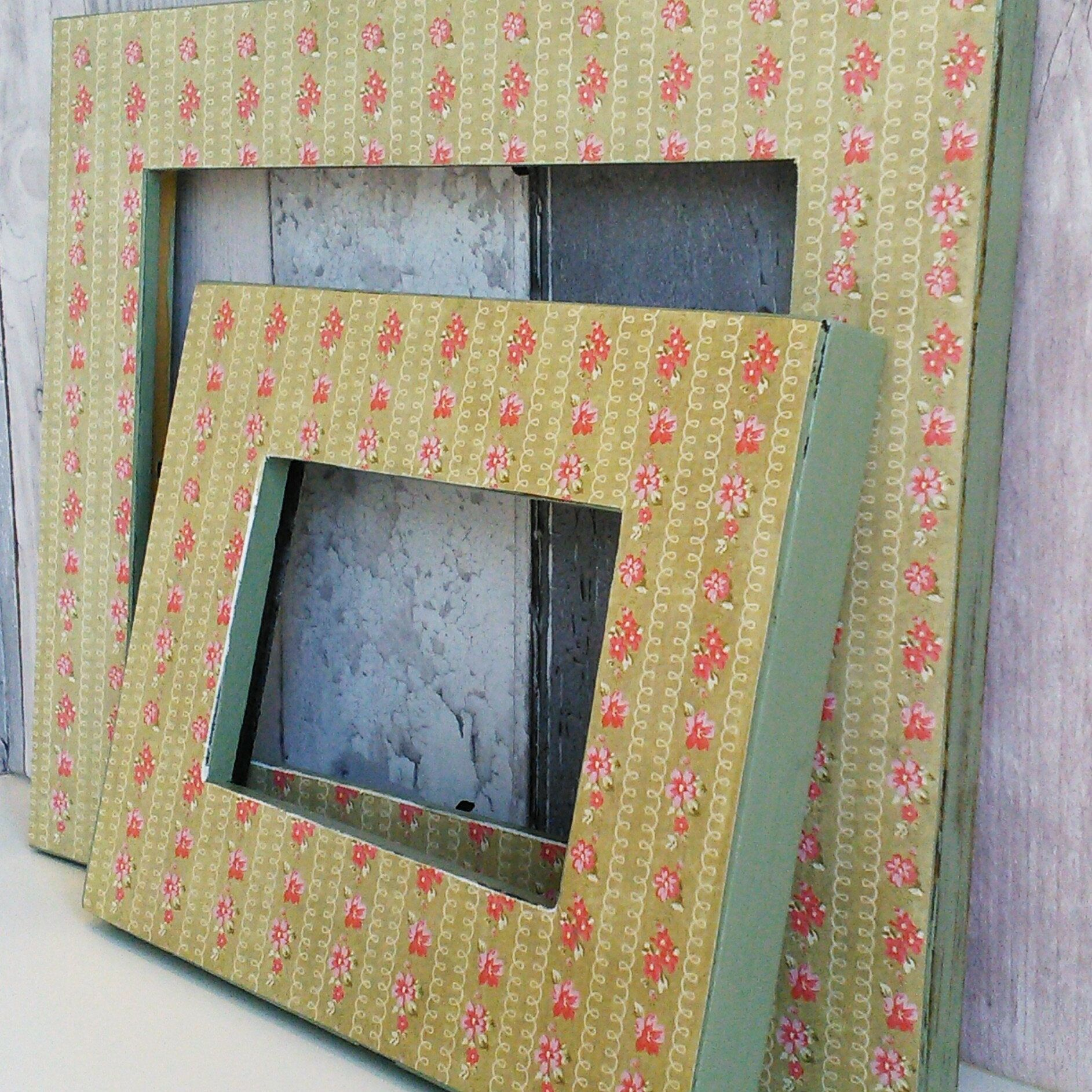 Decoupaged Frame, Open Frames, Empty Frames, Gallery Wall Frames, Floral