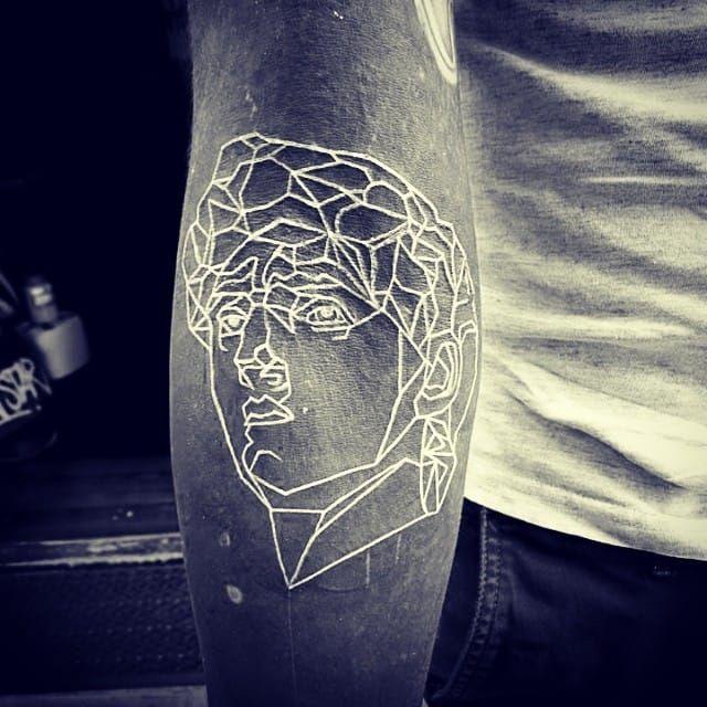 White On Black Tattoo You Can Tattoo White Over Black White Tattoo All Black Tattoos Black White Tattoos