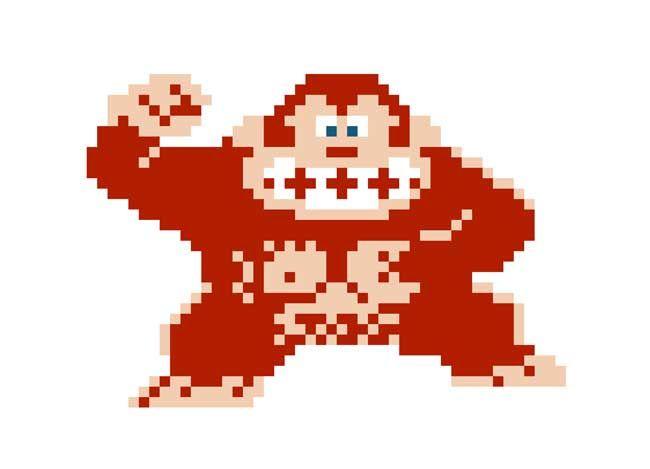 Pixel Papercraft  2D Donkey Kong Free Paper Toy Download  http