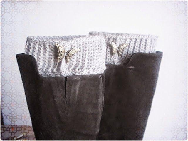 calentadores para botas a crochet   Calentadores   Pinterest   Botas ...