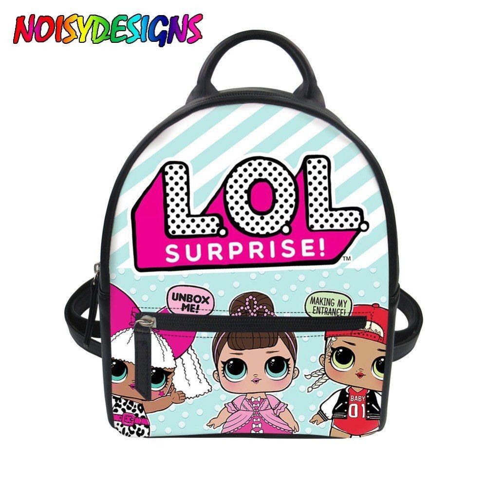Mini Backpack Feminine Lol backpacks for Girls Female School bags Back Pack  Mochila Dolls LOL 3D 1ac9e1d1ed720