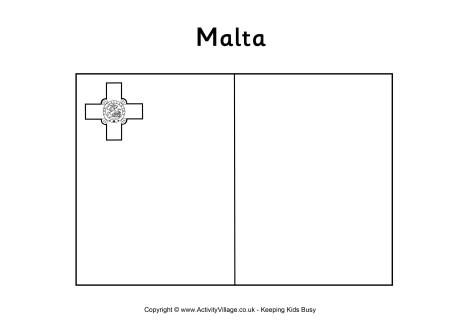 Malta Flag Colouring Page Malta Flag Flag Coloring Pages