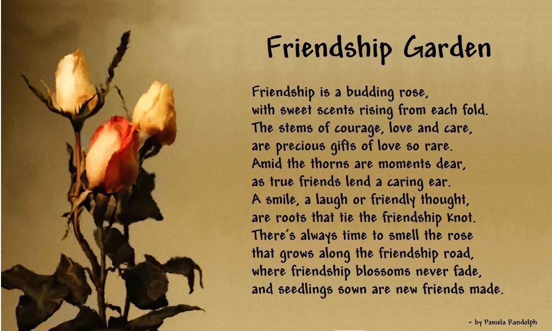 Friendship Garden An Inspirational Poem About Friends 400 x 300