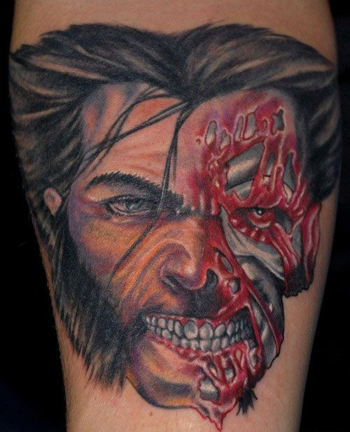 zombie tattoo designs pin zombie wolverine tattoos and tattoo tattoo board by timothy. Black Bedroom Furniture Sets. Home Design Ideas