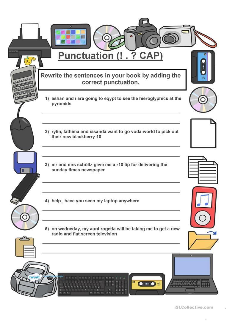 Punctuation worksheet - Free ESL printable worksheets made by ...