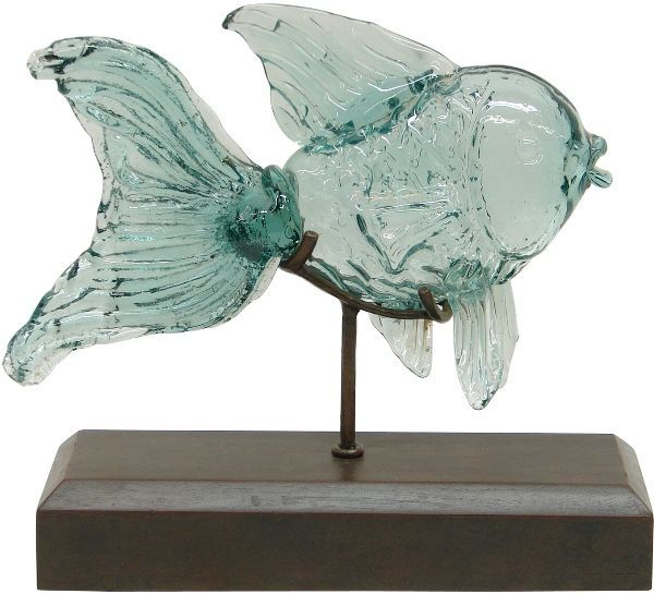 Awesome Nautical Cottage Blog   | Beach Home Decor: Glass Fish On Stand | Http: