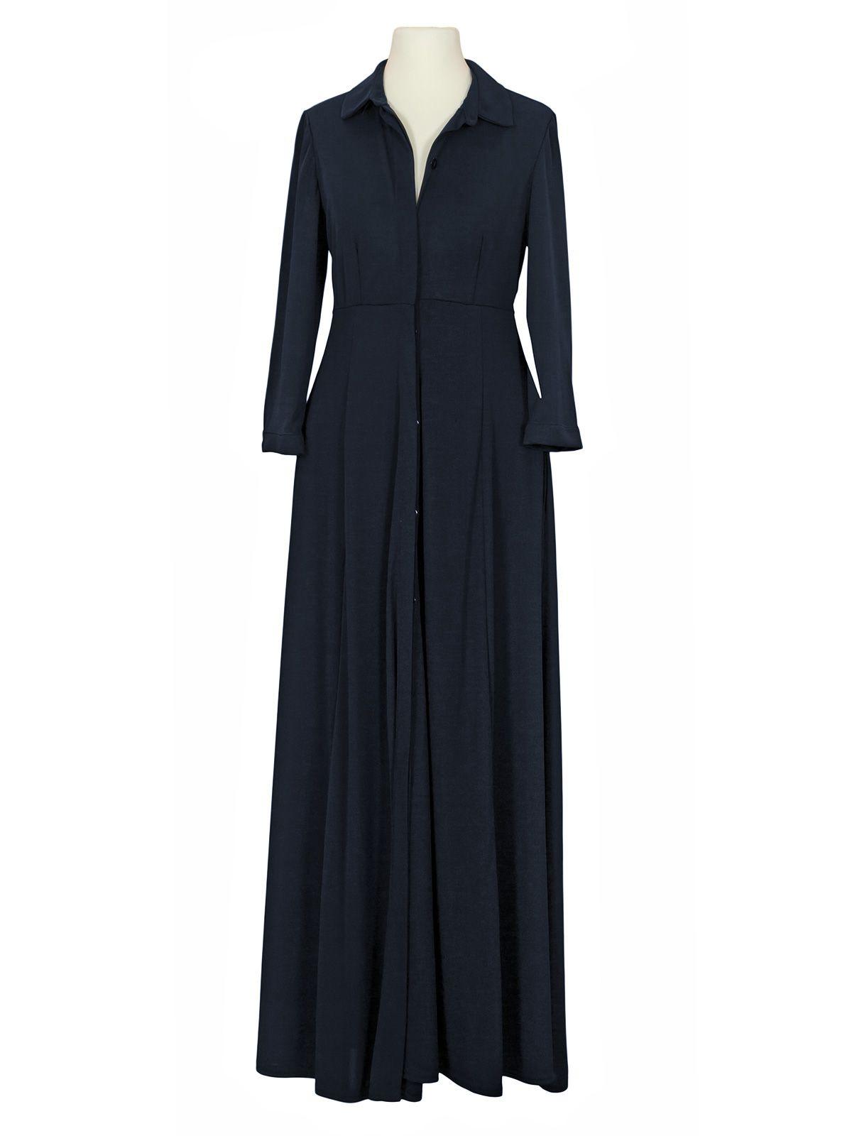 jerseykleid a-linie lang, dunkelblau bei meinkleidchen