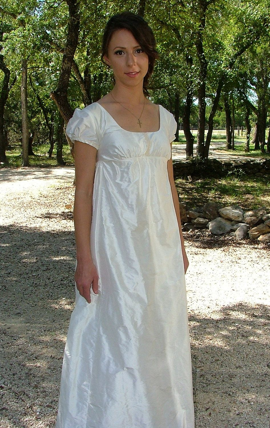 Regency Wedding Dress Gown - I like the cloth, but the bodice is to ...