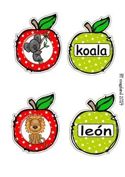 Spanish Alphabet Apple Cards FREEBIE Spanish alphabet