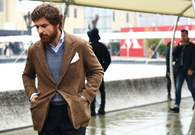 BROWN HERRINGBONE JACKET | Herringbone jacket, Tweed jacket men ...