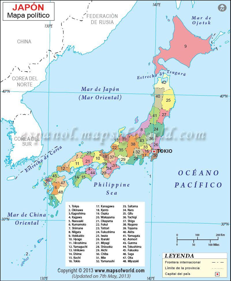 Mapa De Japon Con Imagenes Japon Mapa Japon Mapas