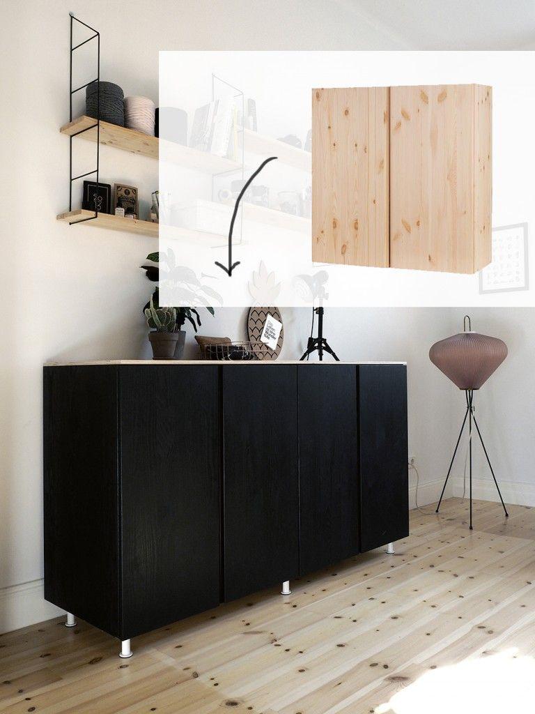 ikea hack wie du aus ivar schr nken ein cooles sideboard machst sala pinterest m bel. Black Bedroom Furniture Sets. Home Design Ideas