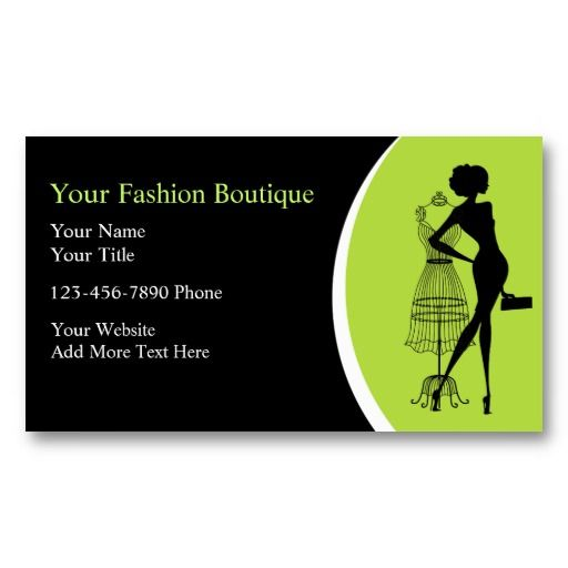 Clothing Boutique Business Cards Business Card Templates