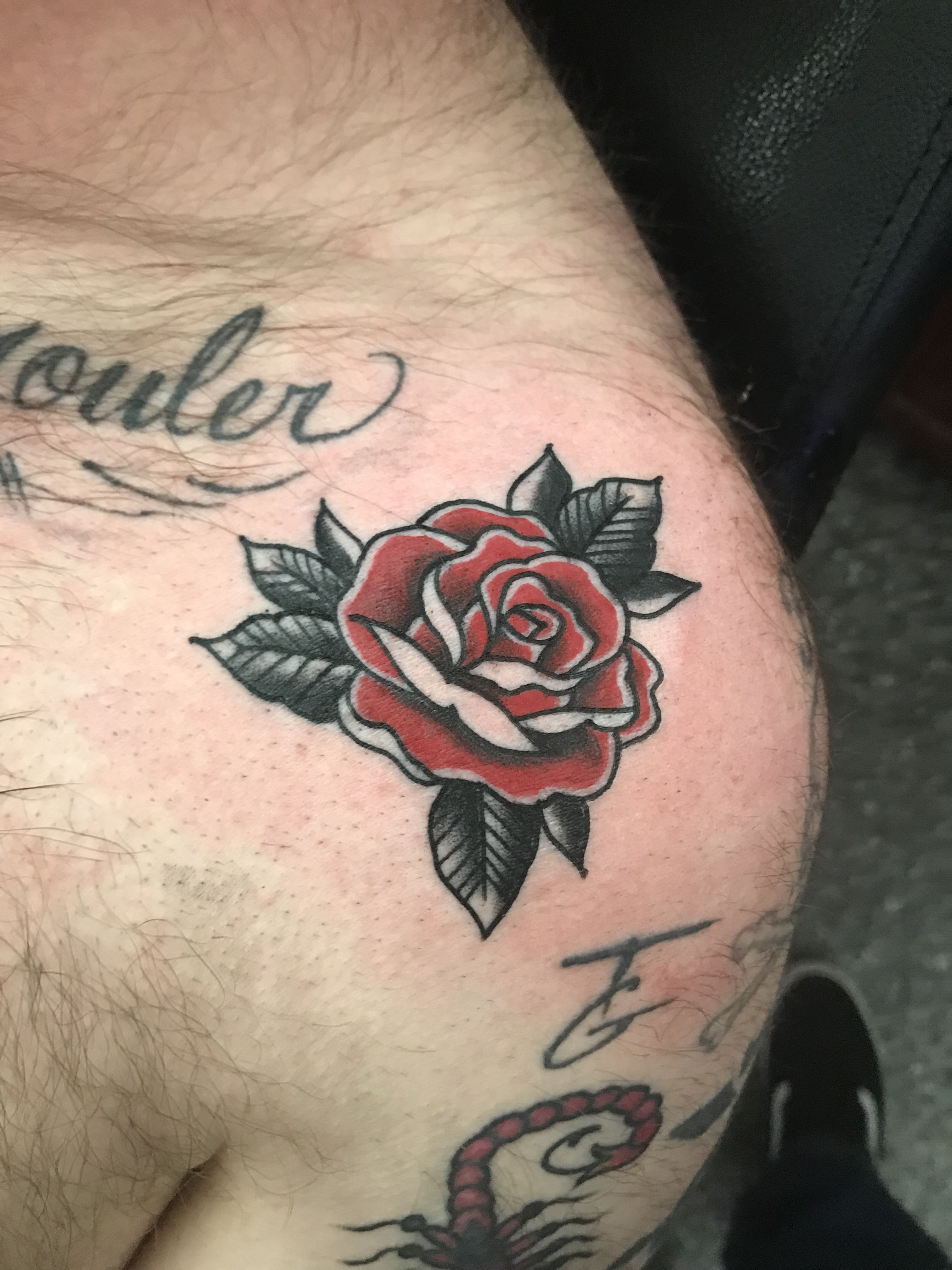 0fd416d7ea666 American Traditional Red Rose tattoo | Heart Rose Tattoo ...