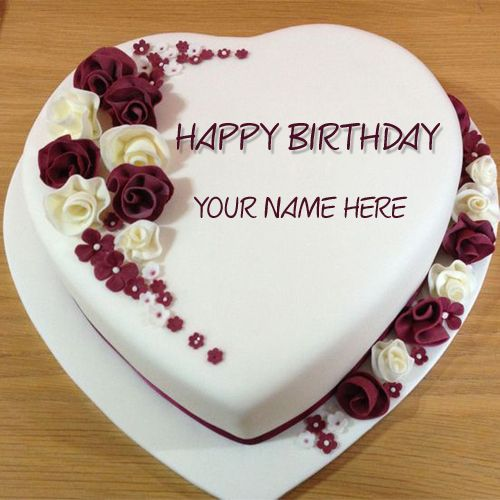 Photos Of Birthday Cake And Wishes : Happy Birthday Cake With Name Edit For Facebook Happy ...