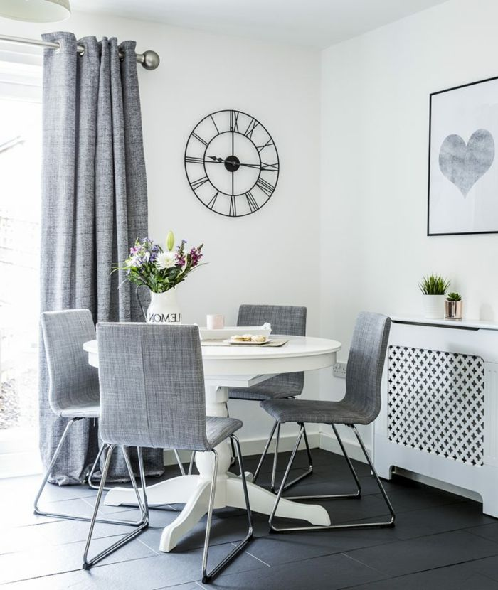 ▷ 1001 + ideas sobre decoración salón gris y blanco