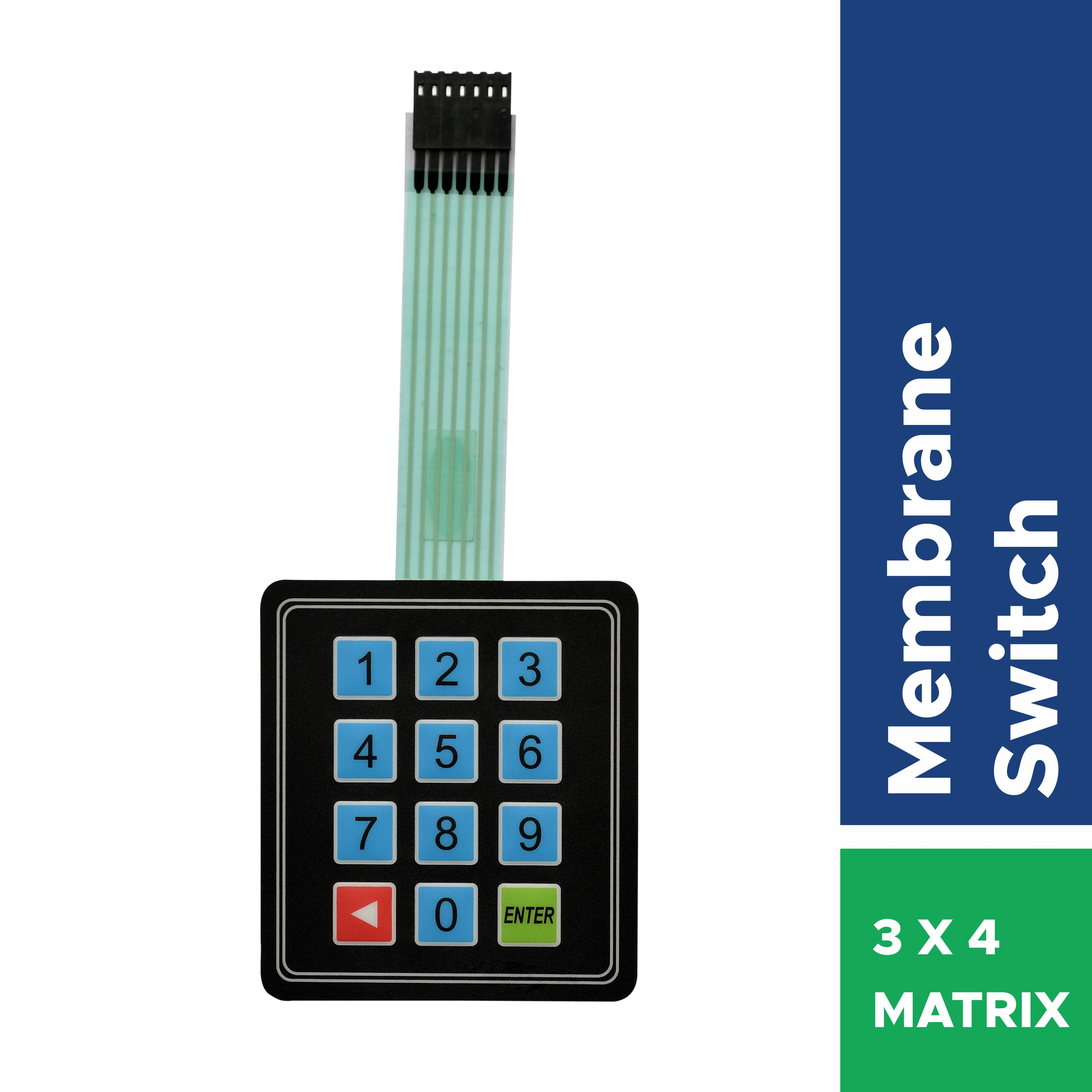 Rangvishwa Best Quality 3x4 Matrix Membrane Switch Keypad For Arduino In 2020 Membrane Matrix Switch