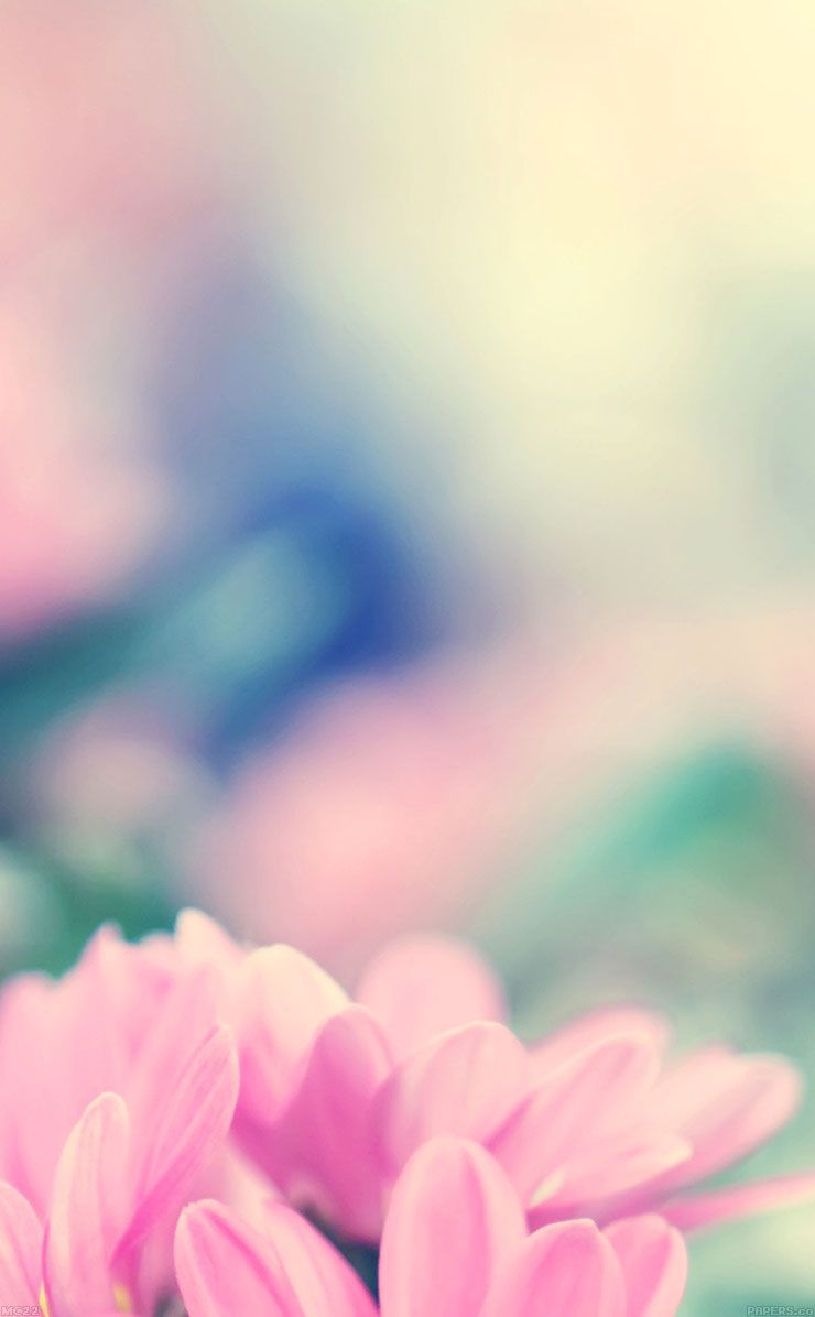 TAP AND GET THE FREE APP! Blurred Beautiful Flowers Pink Spring Lovely Girly For Girls HD iPhone ...