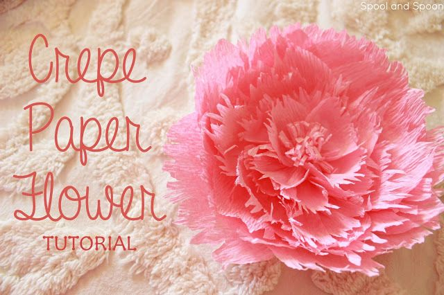 Crepe paper flower tutorial from spool and spoon perfect crepe paper flower tutorial from spool and spoon perfect alternative to a bow mightylinksfo
