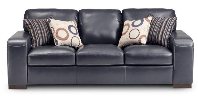cheaper 09362 b5050 South Coast Queen Sleeper Sofa - Cobalt Leather - Furniture ...