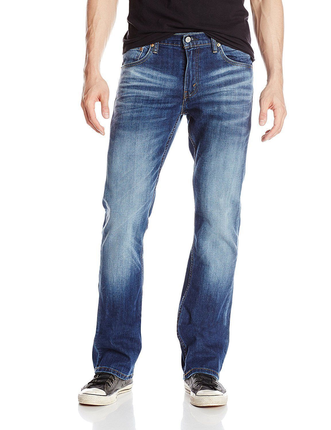 a9d389d8 Levi's Strauss 527 Men's Slim Bootcut Jeans Wave Allusions Stretch 527-0489  $44.99 End Date