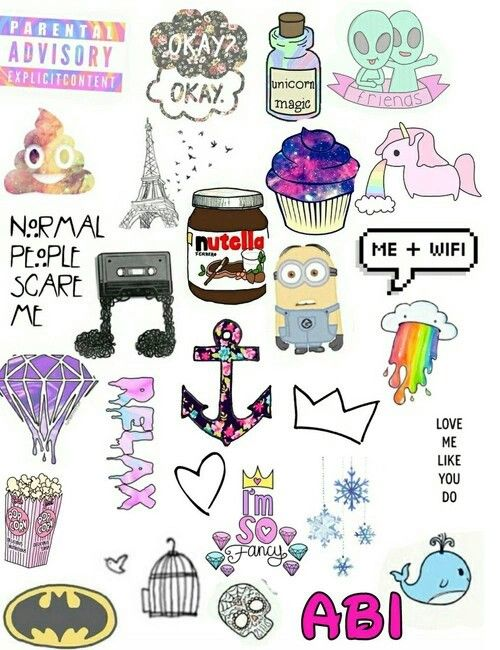 Tumblr Collage Cute Stickers Iphone Case Stickers Tumblr Stickers