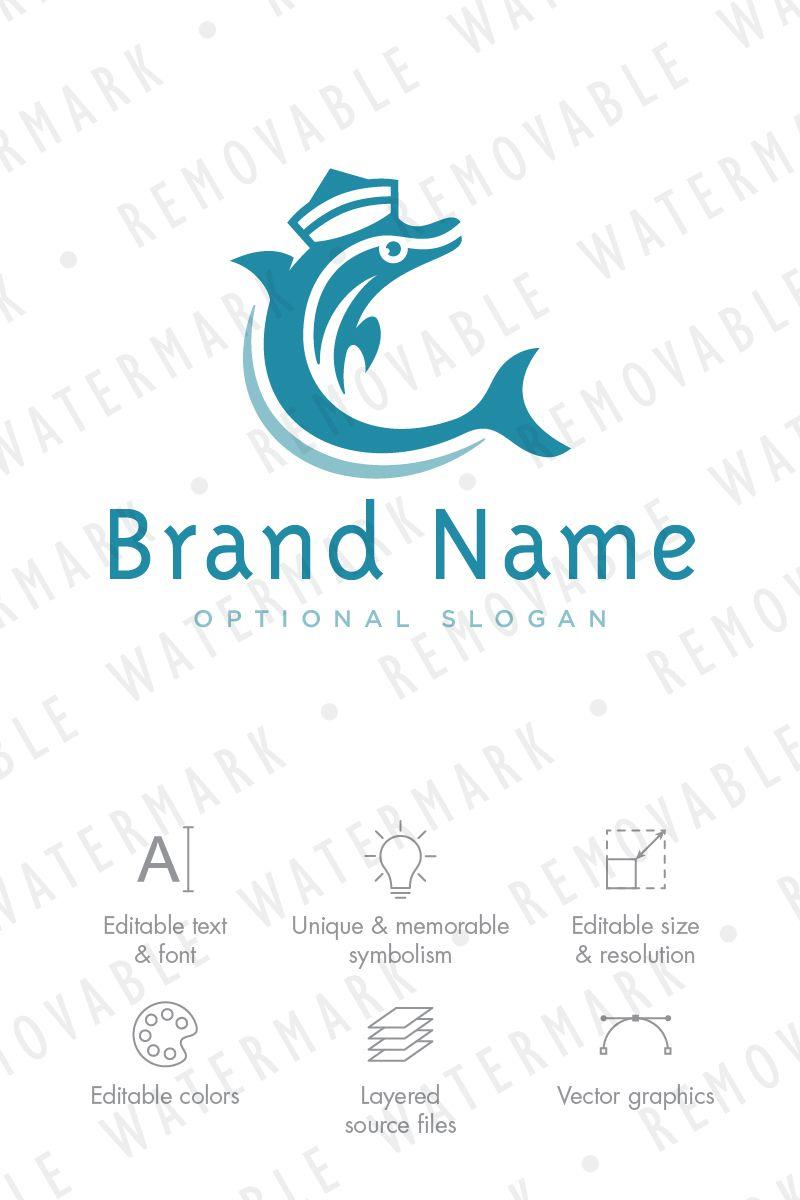 Dolphin Sailor Logo Template | Logo templates, Template and Logos