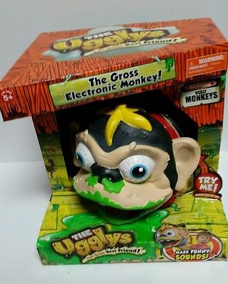 The Ugglys Electronic Monkey Gross Sounds Puppet Burp Fart Ugly Toy NIP