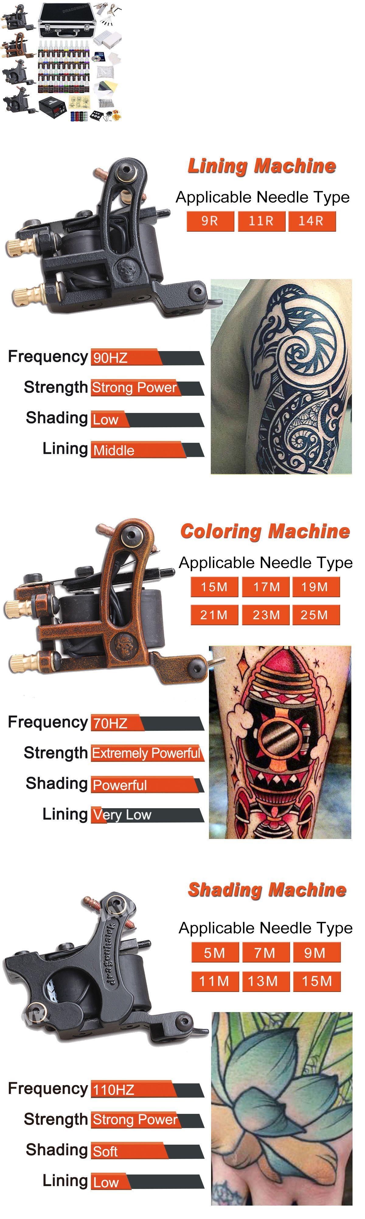 Tattoo Complete Kits Tattoo Kit 4 Machine Guns 40 Color Inks Set Equipment Power Supply Box D139wd 11 Buy It Now Only Tattoo Kits Tattoo Needle Sizes Tattoos