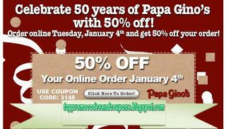 photograph about Papa Gino's Printable Coupons titled No cost Printable Papa Ginos Discount coupons Godfathers Pizza