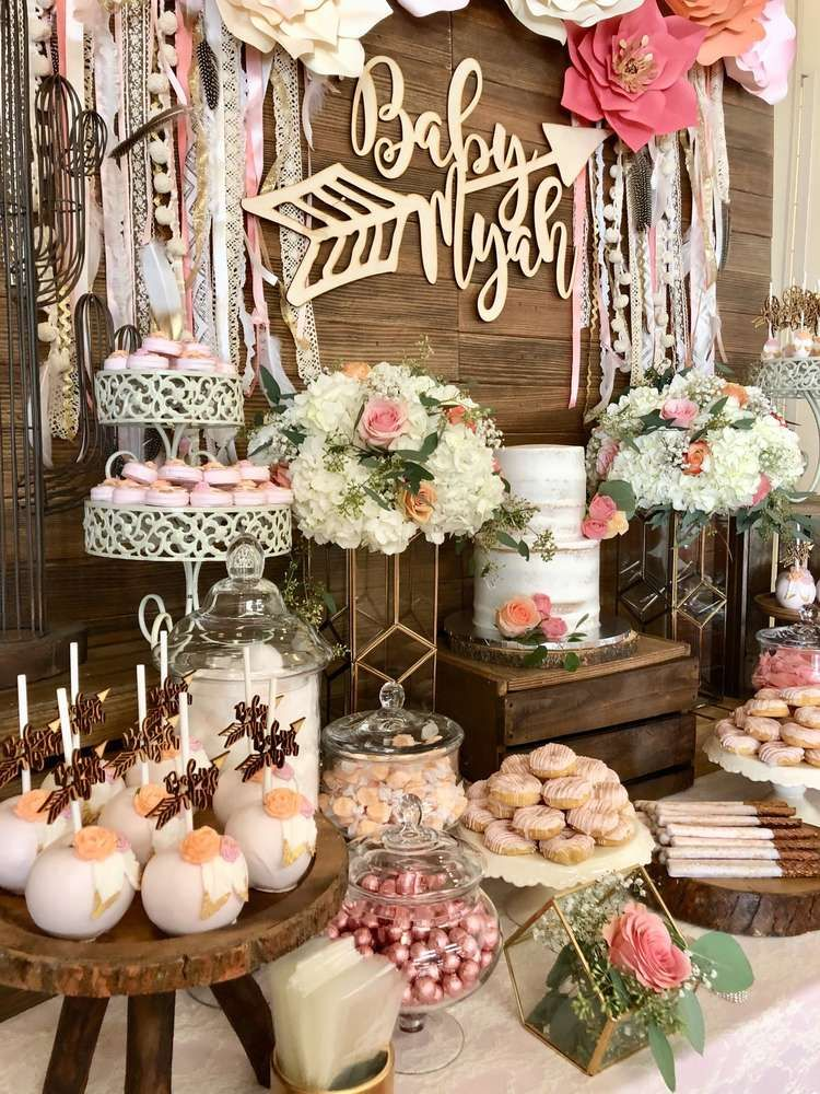 Boho Chic Baby Shower Party Ideas   Projects to Try ...
