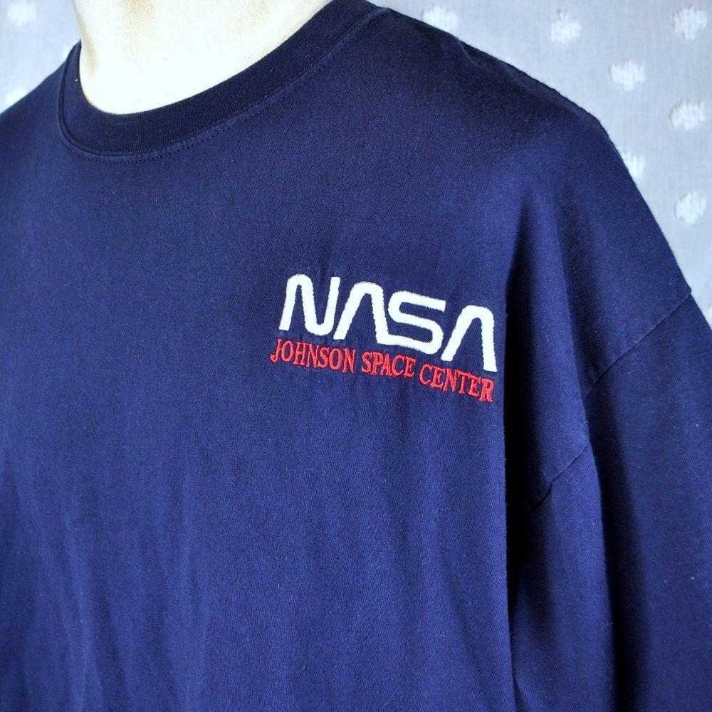 Nasa Johnson Space Center Xxl 2xl T Shirt Embroidered Sewn Jsc