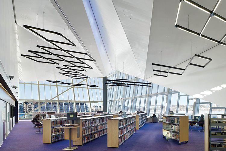 Clareview Branch Edmonton Public Library School architecture
