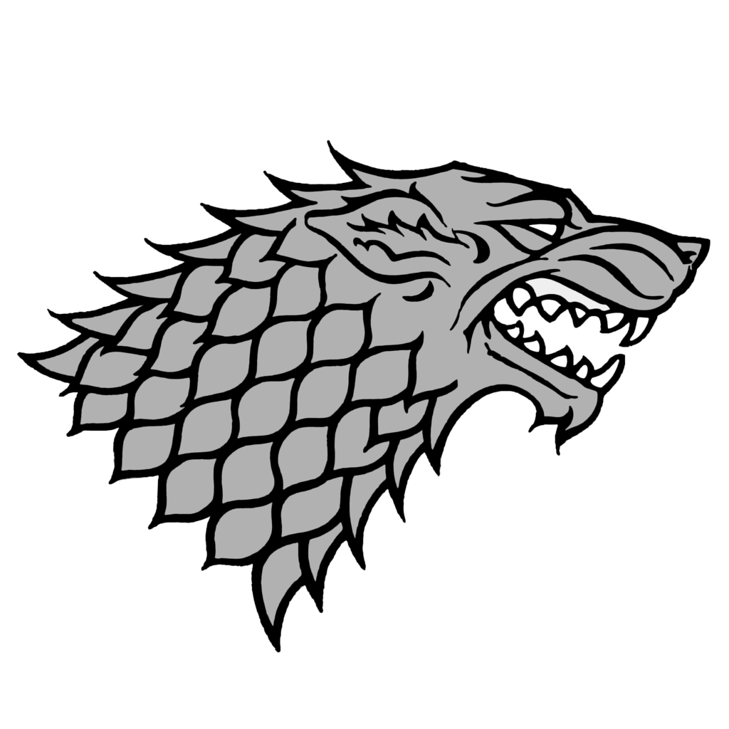 Stark House Wolf Game Of Thrones House Stark Sigil Stark Sigil Game Of Thrones Art