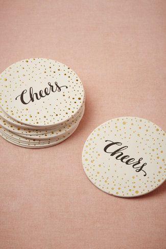 Sugar Paper Cheers Coasters | BHLDN