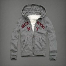 Abercrombie Fitch Grey Mens HoodiesAFMH0241