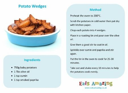 Really Easy Potato Wedges