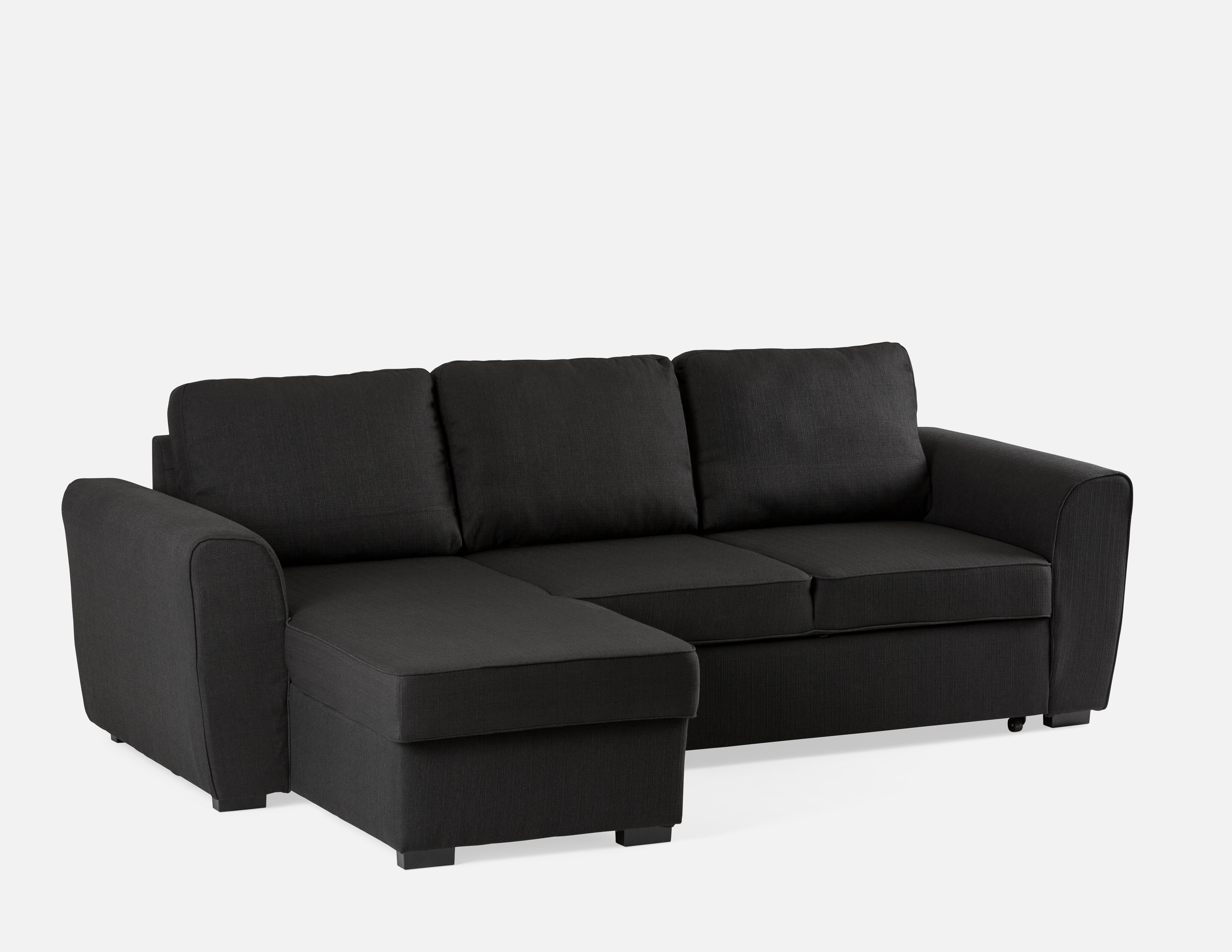 Black Interchangeable Sectional Sofa Bed With Storage Structube