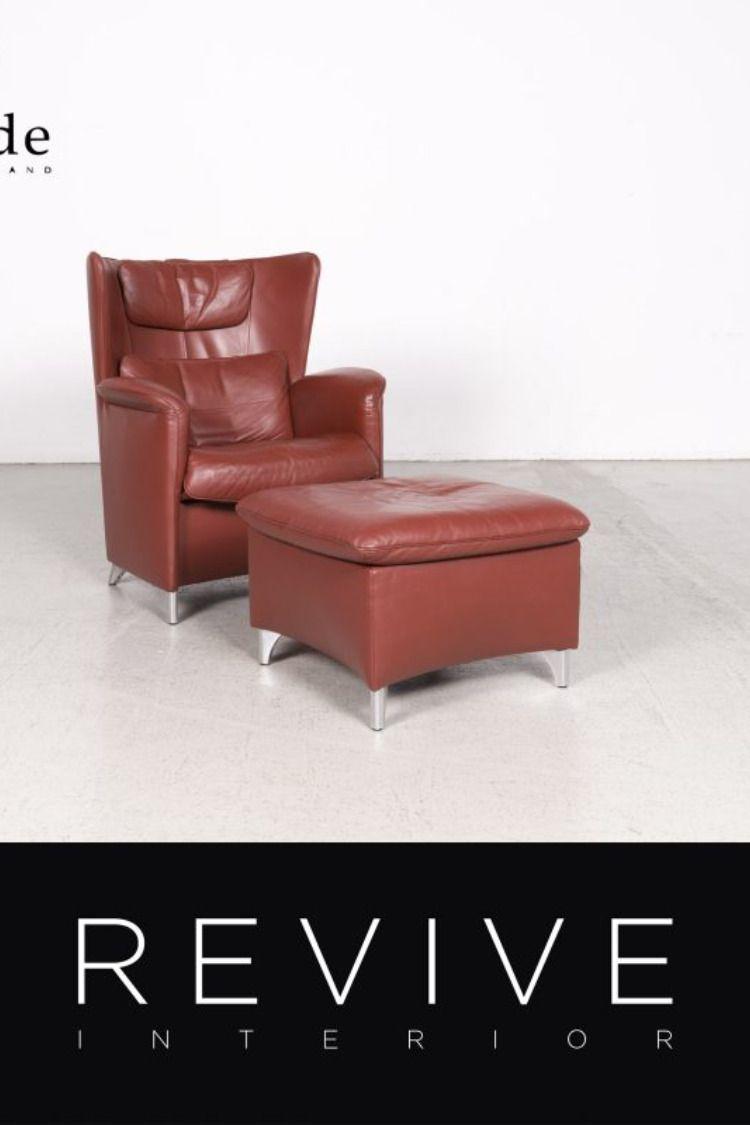 De Sede Ds 23 Designer Leder Sessel Garnitur Rot By Franz Schulte