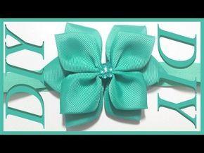 """Learn how to make a hair bow in an easy step-by-step tutorial Supplies: 1x Alligator hair clip 1.6"""" 1x Plastic button 1x Grosgrain ribbon 0.2"""" x 8"""" 1x Grosgr..."""