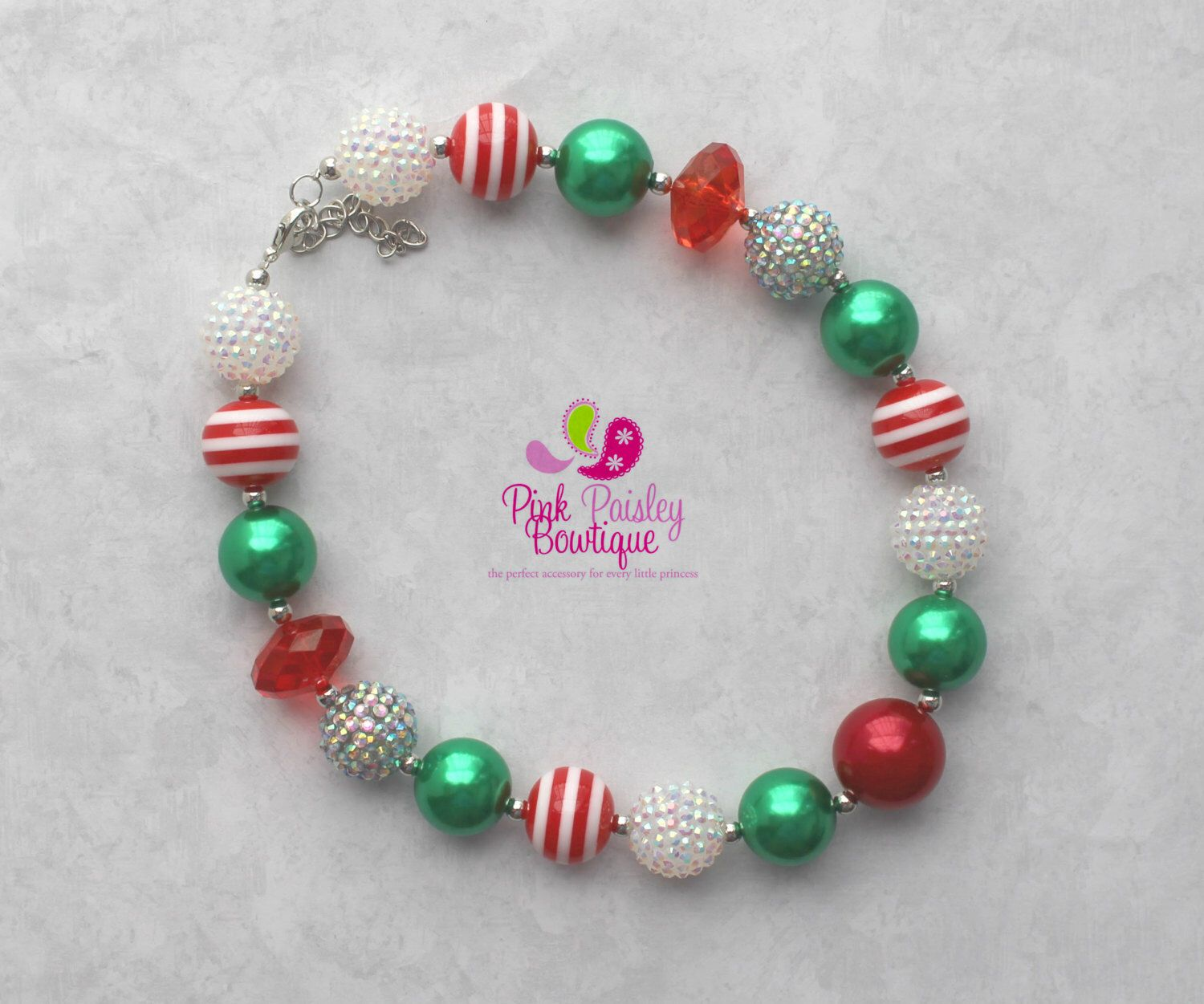 A personal favorite from my Etsy shop https://www.etsy.com/listing/248528746/baby-girl-chunky-necklace-christmas  Baby Girl Chunky Necklace Christmas Bubble Gum Necklace, Santa Photo Necklace Photo Prop Necklace Holiday party Cake smash, Stocking Stuffer