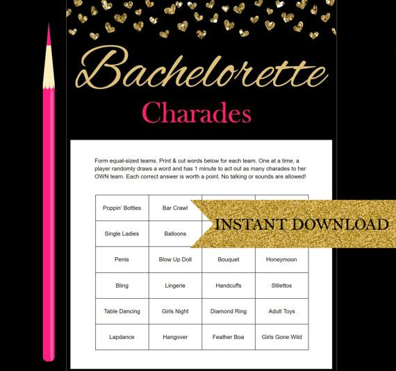 Wedding Charades Ideas: Bachelorette Charades