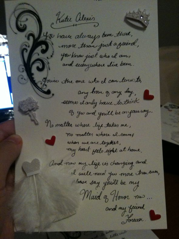 letters to your bridesmaids | Will you be my bridesmaid/MOH