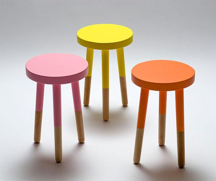 Charming Instead Of Purchasing The $300+ Designer Stools, Buy A Plain, Wooden Stool  And Idea