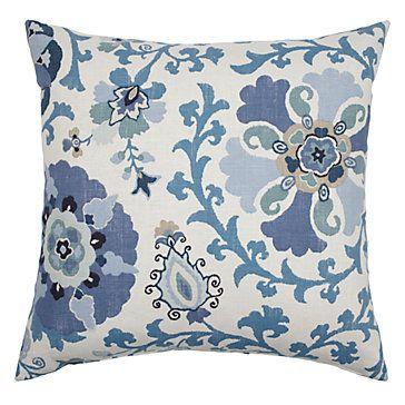 "Z Gallerie - Silsila Pillow 24"" - Indian Sea"