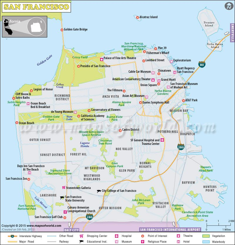 Map of #SanFrancisco city | USA Maps in 2019 | Pinterest | City maps ...