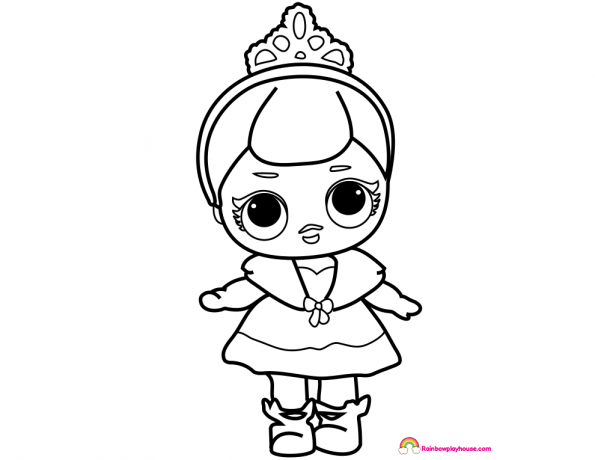 lol dolls crystal queen coloring page rainbow playhouse coloring pages for kids