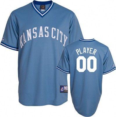 Kansas City Royals Retro Cooperstown Columbia Blue Baseball Jersey #royals #mlb #kansascity