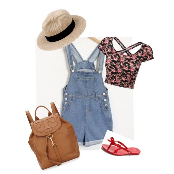 Cute romper outfit by lmtomsick on Polyvore featuring polyvore, fashion, style, Momewear, Melissa and Tory Burch